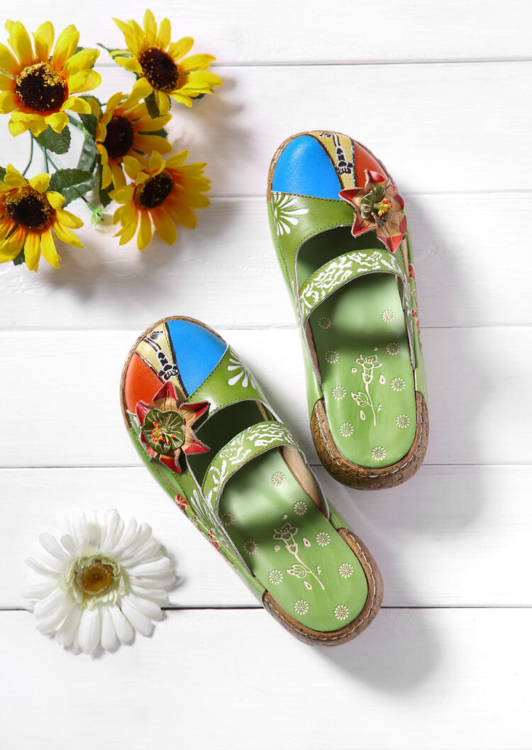 Flower Hollow Out Slippers