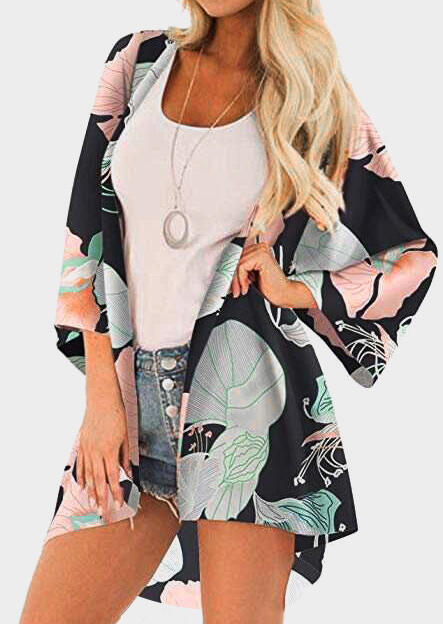 Leaf Printed Cardigan