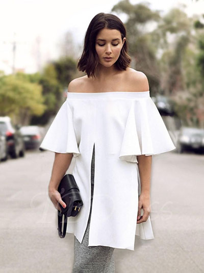 Off The Shoulder Clothing Unsuitable For Broad-Shouldered Women