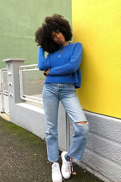 dark skin wear cool colors - how to dress well