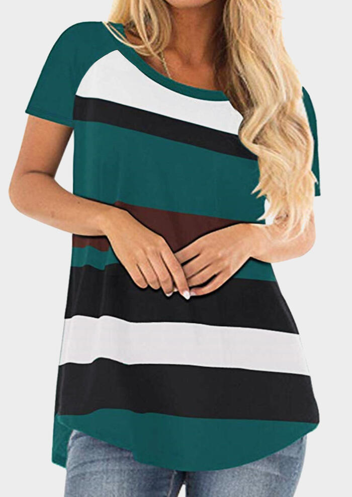 Striped O-Neck T-Shirt Tee