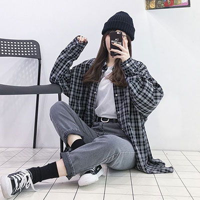 Checkered Jacket - Boyish Style