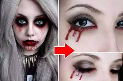 Vampire Tears - Halloween makeup