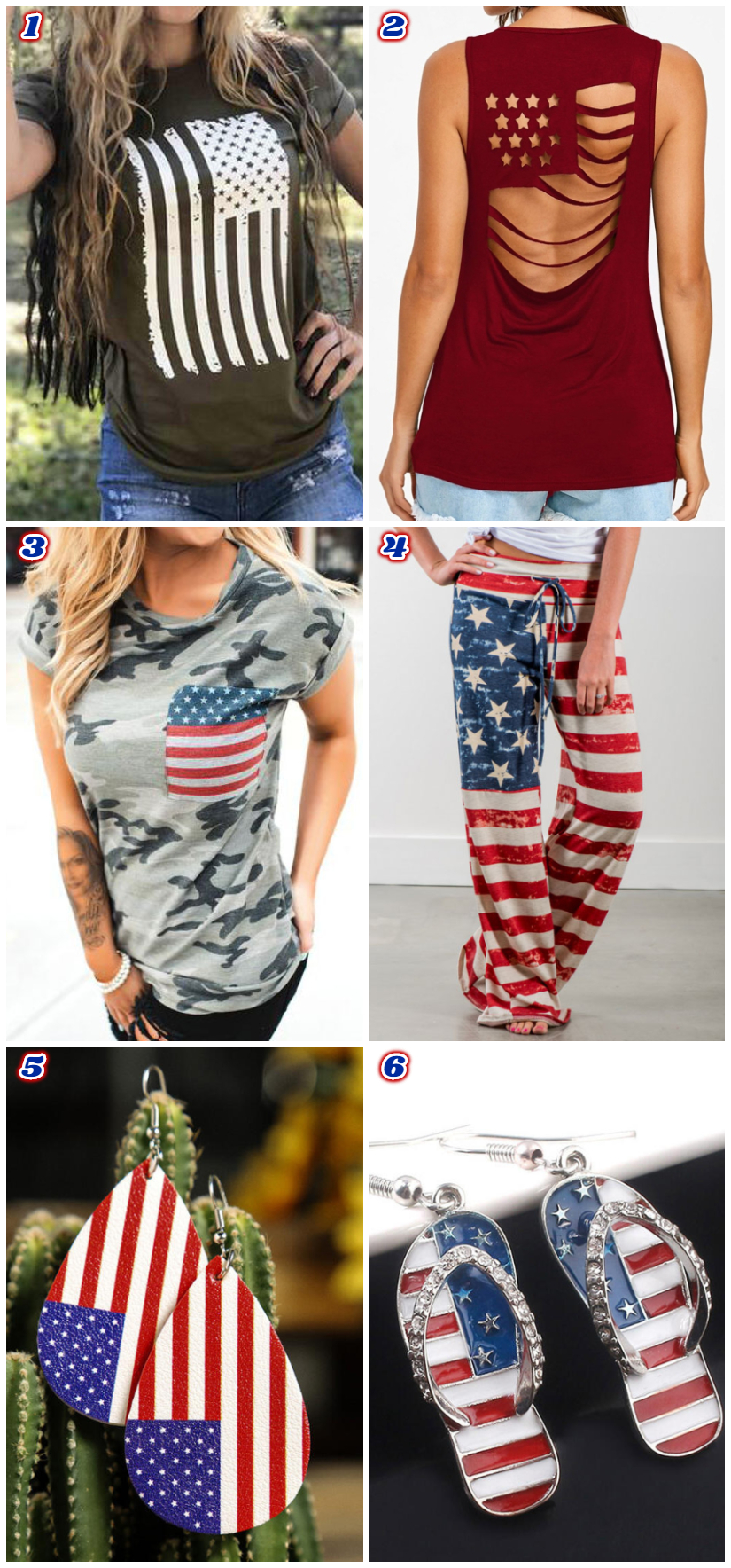 Fairyseason American Flag Apparel